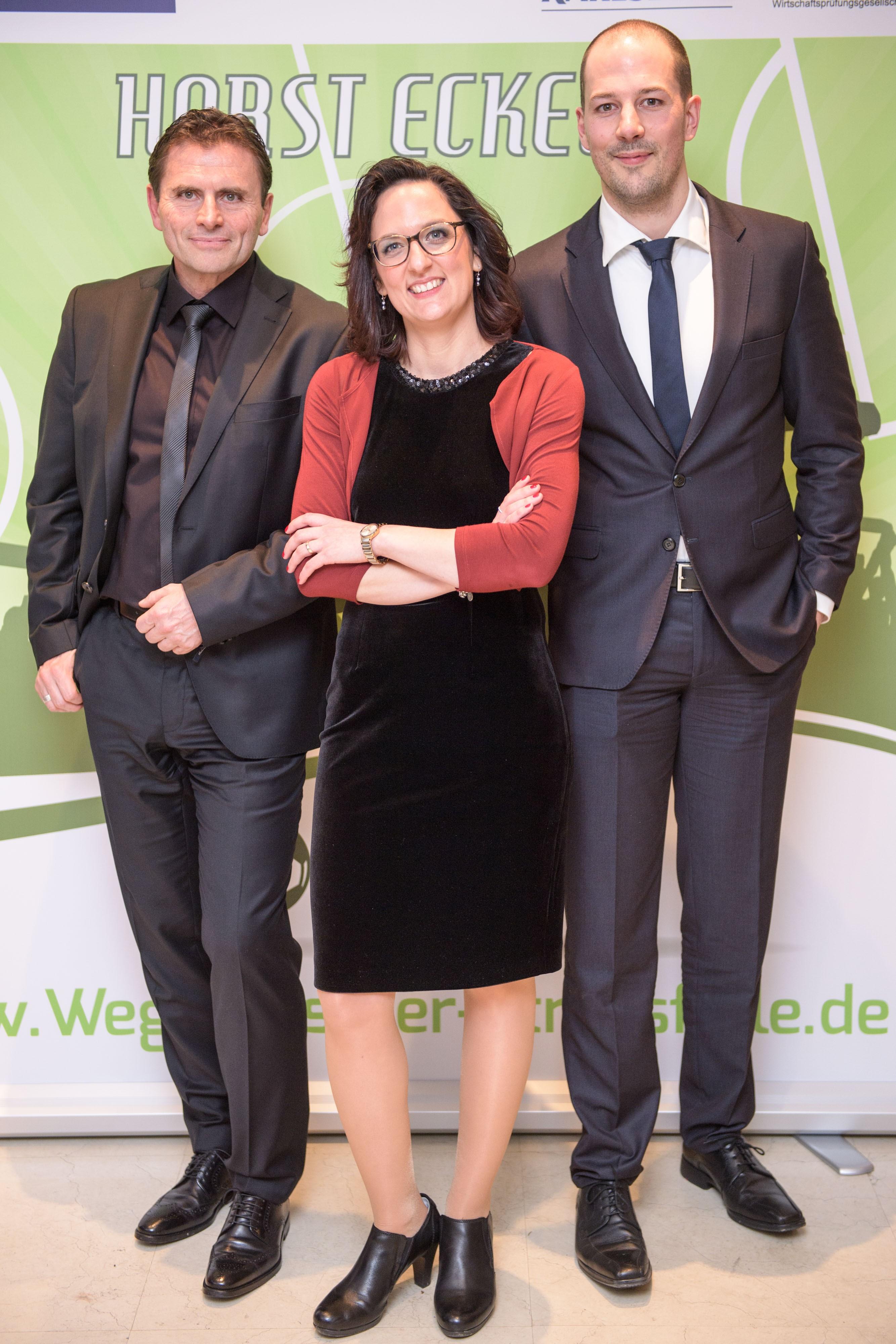 v. l. Michael Hilgert, Jessica Berner-Egen, Guido Semrau